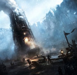Frostpunk - desperate people struggling to maintain the city